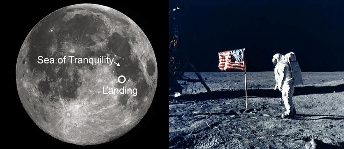 Apollo 11 landing site - The Sea of Tranquillity