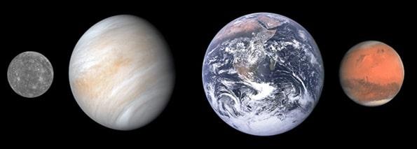 ठोस सतह वाले ग्रह